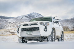 Toyota 4Runner SUV on a dirt road Royalty Free Stock Photography