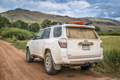 Toyota 4Runner SUV on a dirt road Royalty Free Stock Photo