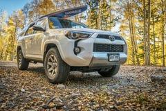 Toyota 4Runner SUV na Smażyć niecki drogę Zdjęcia Royalty Free