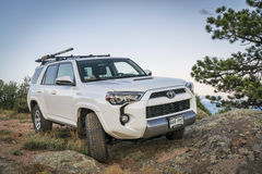 Toyota 4Runner SUV on a rocky trail Royalty Free Stock Photography