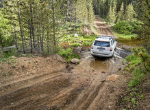 Toyota 4Runner SUV on a trail in Colorado Stock Image