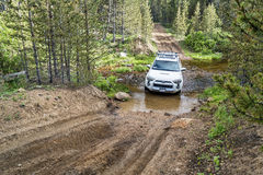 Toyota 4Runner SUV on a trail Stock Images