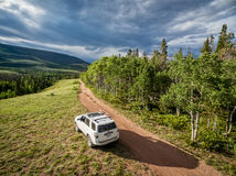 Toyota 4Runner SUV on a trail Stock Image