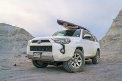 Toyota 4Runner SUV w Kansas badlands Obraz Stock