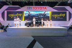 Toyota samochód przy Tajlandia zawody międzynarodowi silnika expo 2016 Obraz Stock