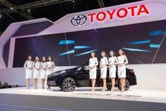 Toyota samochód przy Tajlandia zawody międzynarodowi silnika expo 2016 Zdjęcie Royalty Free