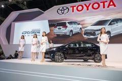 Toyota samochód przy Tajlandia zawody międzynarodowi silnika expo 2016 Obraz Royalty Free