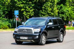 Toyota Sequoia. Moscow, Russia - July 7, 2012: Off-road vehicle Toyota Sequoia in the city street Stock Photography