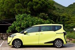 Toyota SIENTA 2015 testa Prowadnikowy dzień Obrazy Royalty Free