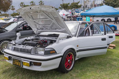 Toyota Sprinter on display Royalty Free Stock Images