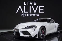 Toyota Supra gr. in Motorshow 2019 stock afbeelding