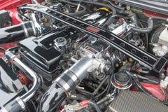 Toyota Supra motor 1994 på skärm Arkivfoto