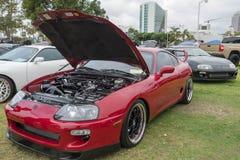 Toyota Supra 1994 på skärm Arkivbild