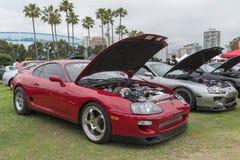 Toyota Supra 1994 på skärm Royaltyfri Bild