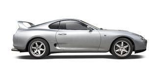 Toyota Supra  on white Royalty Free Stock Photos