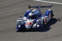 Toyota TS040 hybrid back to the pits Royalty Free Stock Images