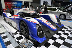 TOYOTA TS 030 hybrid Le Mans Race Car. Guangzhou, China - November 22, 2014: TOYOTA TS 030  hybrid Le Mans Race Car was exhibited in the 12th China (Guangzhou) Stock Images