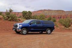 Toyota-Tundra-LKW in der Utah-Wüste Stockbild
