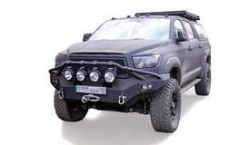 Toyota Tundra. Tuning Devolro on a white background Stock Image