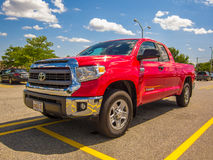 Toyota tundra 4 x pickup 4 Arkivfoto