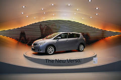 Toyota Verso - Premiere at Geneva Motor Show 2009 royalty free stock photos