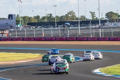 TOYOTA VIOS Één maakt race in 2015 TOYOTA MOTORSPORT 2015 Ronde 1 Stock Afbeeldingen