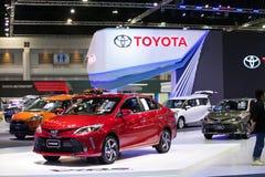 Toyota vios eco samochód na pokazie w Bangkok Międzynarodowym Motorowym przedstawieniu 2017 Fotografia Stock