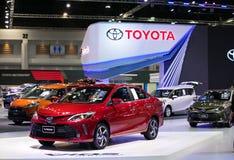 Toyota vios eco samochód na pokazie w Bangkok Międzynarodowym Motorowym przedstawieniu 2017 Zdjęcia Stock