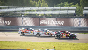TOYOTA VIOS One make race (Lady Cup) at 2014 TOYOTA MOTORSPORT 2 Stock Photos