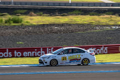 TOYOTA VIOS One make race at 2015 TOYOTA MOTORSPORT 2015 Round 1 Royalty Free Stock Photo