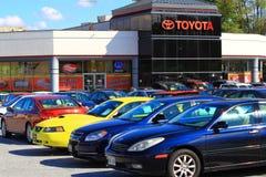 Toyota visningslokal Royaltyfri Fotografi