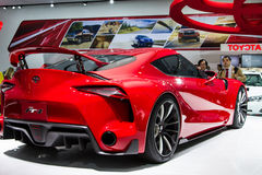 Toyota voet-1 auto van het sportconcept Stock Foto