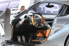 Toyota voet-1 bij de autoshow wordt getoond die Royalty-vrije Stock Afbeelding