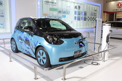 Toyota voet-EV III elektrisch conceptenvoertuig Stock Foto