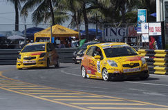 Toyota Yaris één maakt race Stock Afbeelding