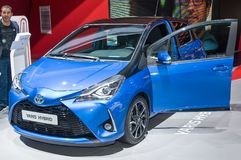 Toyota Yaris bland Fotografering för Bildbyråer