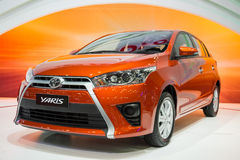 Toyota Yaris on display Stock Photography