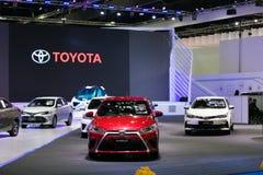 Toyota yaris eco samochód na pokazie Fotografia Royalty Free