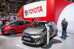 Toyota Yaris Hybrid at the IAA 2015 Royalty Free Stock Images