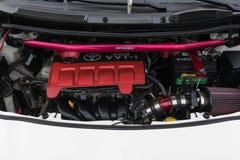 Toyota Yaris motor på skärm Royaltyfria Foton