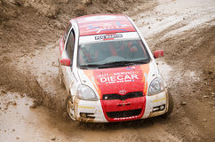 Toyota Yaris rally car. Stock Image