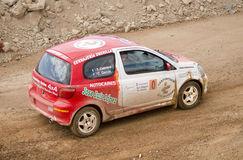 Toyota Yaris samlar bilen Royaltyfri Fotografi