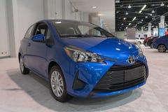 Toyota Yaris su esposizione immagini stock libere da diritti