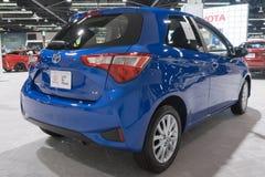 Toyota Yaris su esposizione fotografia stock