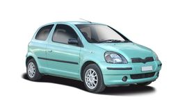 Toyota Yaris viejo Imagen de archivo