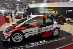 Toyota Yaris WRC rally at SIAB 2018, Romexpo, Bucharest, Romania. Toyota stand Stock Images