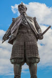 Toyotomi Hideyoshi. A preeminent daimyo, warrior, general and politician of the Sengoku period, his statue situated in front of Hokoku shrine Stock Images