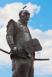 Toyotomi Hideyoshi. A preeminent daimyo, warrior, general and politician of the Sengoku period, his statue situated in front of Hokoku shrine Royalty Free Stock Photography