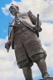 Toyotomi Hideyoshi. A preeminent daimyo, warrior, general and politician of the Sengoku period, his statue situated in front of Hokoku shrine Stock Image