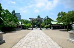 Toyotomi Hideyoshi statue at Hokoku Shrine in Osaka Castle Park. On July 10, 2015 in Osaka, Japan Stock Photo
